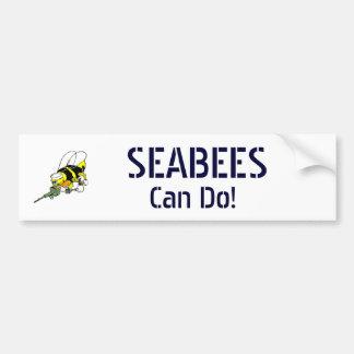 MarineSeabees können tun! Autoaufkleber