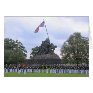 Marinesoldaten an Iwojima-Statue, Karte