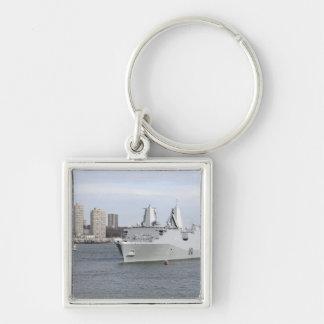 Marinesoldaten und Seeleute bemannen die Schienen Schlüsselanhänger