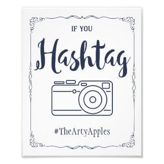 Marinesozialmedien, die Zeichen hashtag wedding Photo