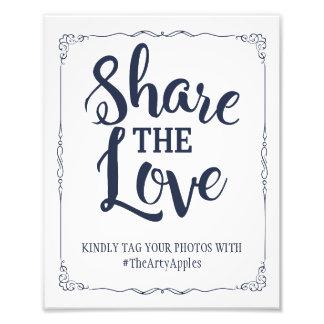 Marinesozialmedien, die Zeichen hashtag wedding Photodrucke