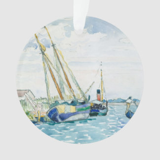 Marineszenen-Boote nähern sich Venedig Ornament