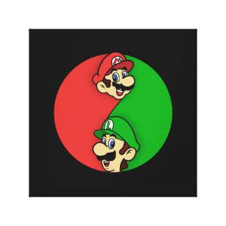 Mario Luigi Yin Yang Leinwanddruck