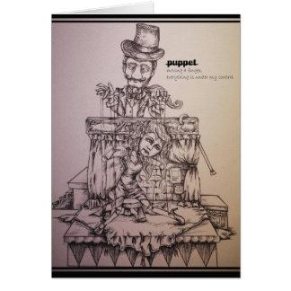 Marionette Grußkarte