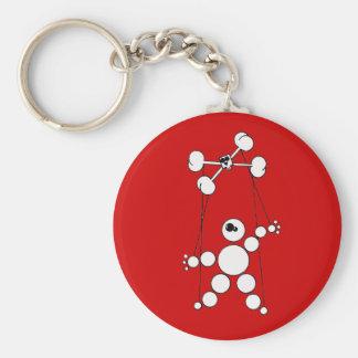 Marionette Standard Runder Schlüsselanhänger
