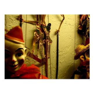 Marionetten-Gesicht Postkarte