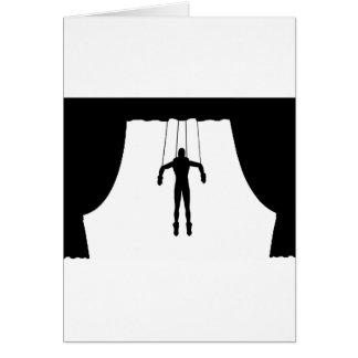 Marionetten-Marionette Grußkarte