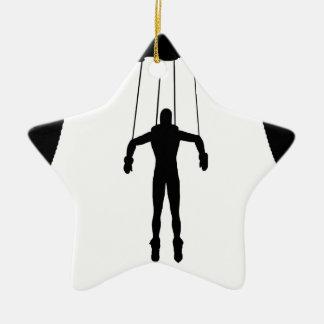 Marionetten-Marionette Keramik Stern-Ornament