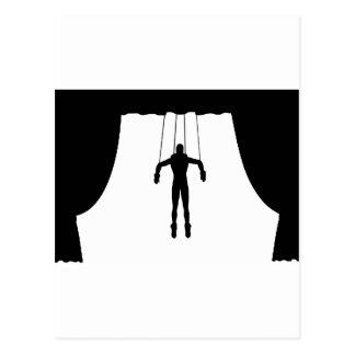 Marionetten-Marionette Postkarte