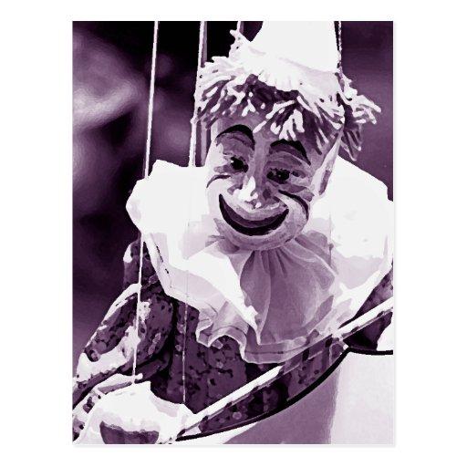 Marionetten-Postkarte