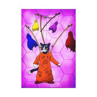 Marionetten-Vorlagenkatze Leinwanddruck