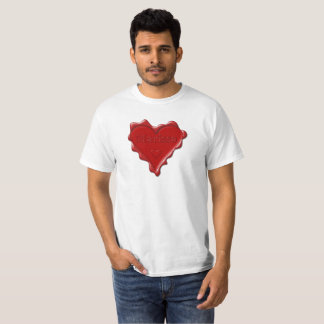 Marissa. Rotes Herzwachs-Siegel mit NamensMarissa T-Shirt