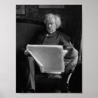 Mark Twain - amerikanischer Autor und Humorist Poster