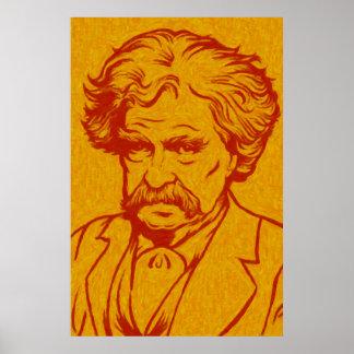 Mark Twain-Plakat Poster