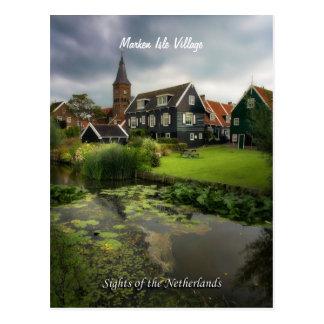 Marken Dorf, Anblick der Niederlande Postkarte