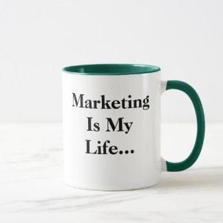 Marketing ist mein Leben… Lustiger profunder Tasse