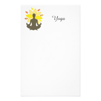 Marketings-Werbeaktion-Yoga-Lotos-Pose Briefpapier