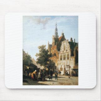 Marketview mit cityhall Woerden durch Cornelis Mousepad