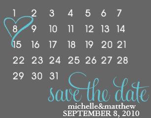 Kalender Save The Date Postkarten | Zazzle.de