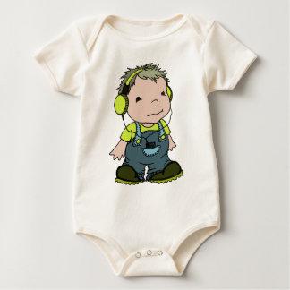 Markieren Sie mag Musik Baby Strampler