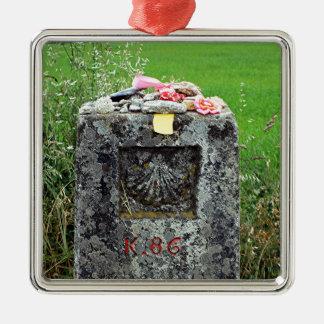 Markierung 86 Kilometer, EL Camino, Spanien Silbernes Ornament