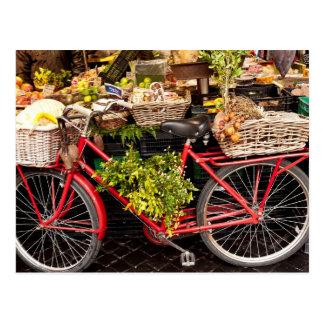 Markt-Fahrrad Postkarte