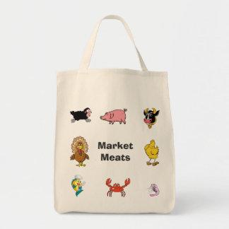 Markt- Lebensmittelgeschäft-Fleisch-Tasche
