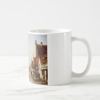 Markt Oudewater durch Cornelis-Springer Kaffeetasse