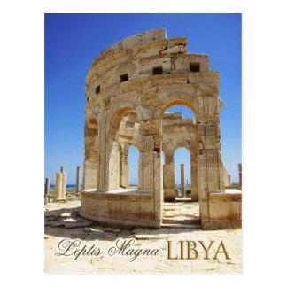 Markt-Ruinen, Leptis Magna, Libyen Postkarte