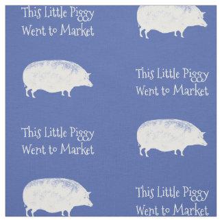 Markt-Schwein-Gewohnheits-Farbe Stoff