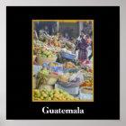 Markt - Solola - Guatemala Poster