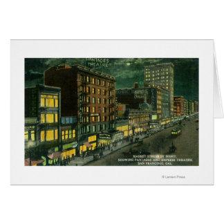 Markt-St. nachts, Pantages, Kaiserin-Theater Karte