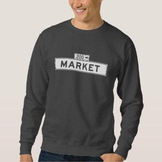 Markt-St., San Francisco Straßenschild Sweatshirt