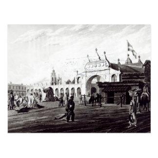 Marktplatz, graviert von Daniel Havell 1820 Postkarte