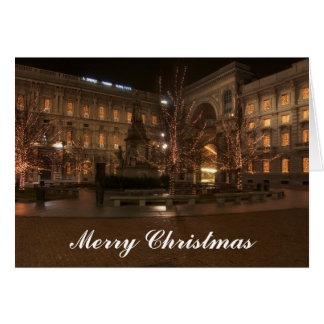 Marktplatz-La Scala, Mailand, Weihnachtskarte Karte