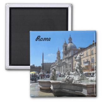 Marktplatz Navona- Rom, Italien Quadratischer Magnet