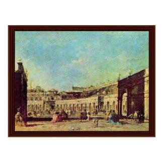 Marktplatz San Marco, durch Guardi Francesco Postkarte