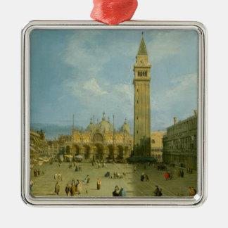 Marktplatz San Marco Silbernes Ornament