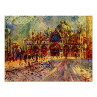 Marktplatz San Marco, Venedig durch Pierre Renoir Poster