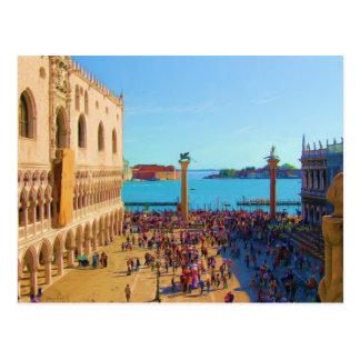 Marktplatz Sans Marco - Venezia Italien Postkarte
