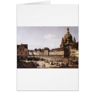 Markts-Quadrat in Dresden durch Bernardo Bellotto Karte