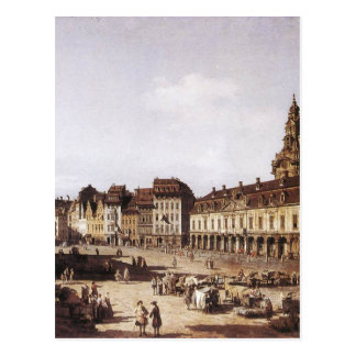 Markts-Quadrat in Dresden durch Bernardo Bellotto Postkarte