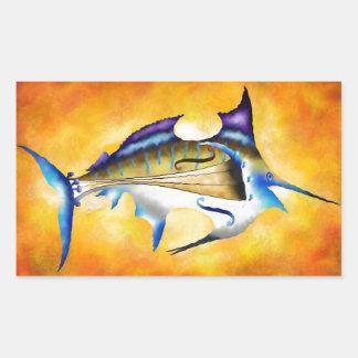 Marlinissos V1 - violinfish Rechteckiger Aufkleber