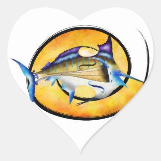 Marlinissos V1 - violinfish witout Rückseite Herz-Aufkleber