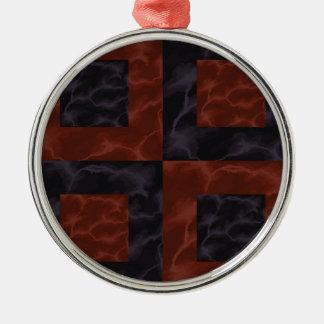 Marmor 3 silbernes ornament