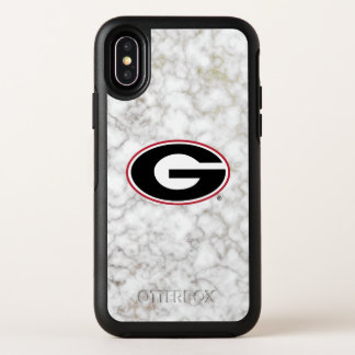 Marmor des Georgia-Bulldoggen-Logo-| OtterBox Symmetry iPhone X Hülle