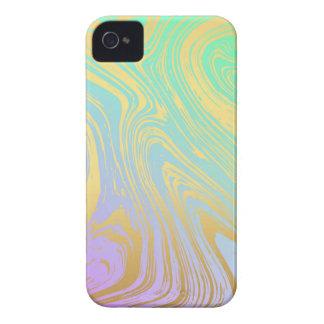 Marmor, Gold, Lavendel, Grün, Rosa, Strudel, Case-Mate iPhone 4 Hüllen