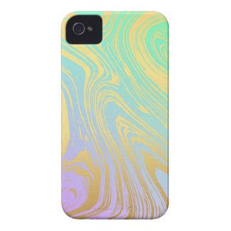 Marmor, Gold, Lavendel, Grün, Rosa, Strudel, iPhone 4 Etuis