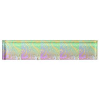 Marmor, Gold, Lavendel, Grün, Rosa, Strudel, Schreibtischplakette