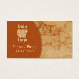 Marmor Orange Visitenkarte
